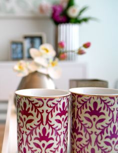 Elegant coffee mugs