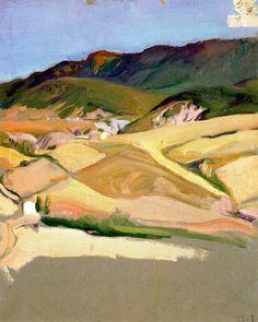 Page: Near Jaca  Artist: Joaquín Sorolla  Place of Creation: Spain  Style: Impressionism  Genre: landscape  Technique: oil  Material: canvas  Dimensions: 44.5 x 35.5 cm  Gallery: Museo Sorolla, Madrid, Spain