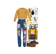 """""""Deceptacon"""" by taramaybin ❤ liked on Polyvore featuring Fjällräven, Ashish, Topshop, GUESS, Hermès, Ultimate, Uniqlo, American Apparel, H&M and Dara Ettinger"""