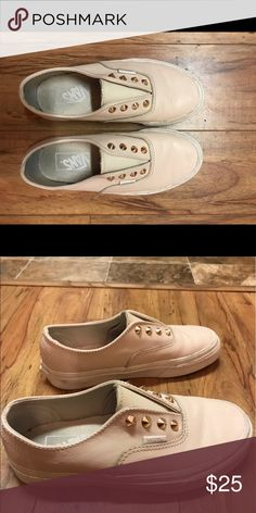 Vans shoes Vans leather shoes with gold spike studs Vans Shoes Sneakers