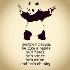 Stop Racism! Be like panda :)