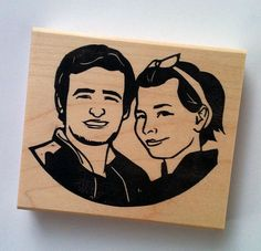 custom stamps for the invites and thank you cards