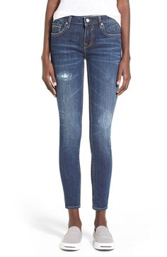 Free shipping and returns on Vigoss 'Chelsea' Distressed Skinny Jeans (Medium Wash) at Nordstrom.com. Ripped and repaired holes mark the thighs of laid-back skinny jeans cut with a bit of stretch to ease thecurve-huggingfit.