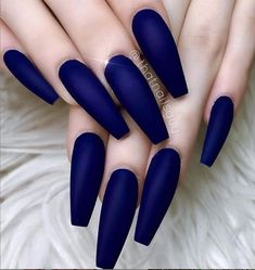 54 Hottest Trendy Acrylic Coffin Nails To Insprire You This .- 54 Hottest Trendy Acrylic Coffin Nails To Insprire You This Spring – - Blue Matte Nails, Dark Blue Nails, Coffin Nails Matte, Blue Acrylic Nails, Coffin Shape Nails, Acrylic Nail Designs, Neon Blue Nails, Maroon Nails Burgundy, Dark Color Nails