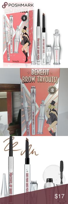 c5e85b413347b Benefit Brow tryouts Brow set  3 Mini set DETAILS ABOUT THE BENEFIT BROW  TRYOUTS SET