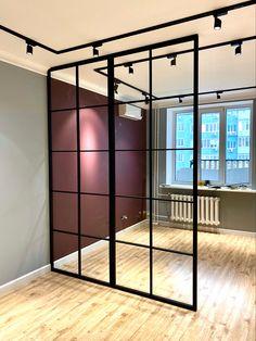 Condo Interior Design, Small Apartment Interior, Studio Apartment Decorating, Studio Interior, Apartment Design, Design Studio Office, Loft Design, Modern House Design, Living Room And Bedroom Combo