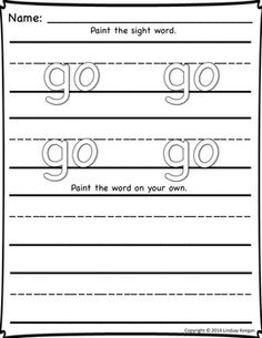 Sight Words for Kindergarten - Editable Painting Words Fun! Painting Words, Sight Word Activities, Cool Writing, More Words, Daily 5, Having A Blast, Paint Set, Word Work, Sight Words