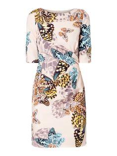 Kleid mit Allover-Muster Rosé - 1 for Soft Summer/Soft Autumn