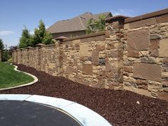 Privacy Fencing - Concrete Walls with Realistic Stone Texture and Color