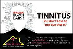 Ringing in your ears?? You just don't have to live with it... Call us on 07827107107 ‪#‎hearingloss‬ ‪#‎tinnitus‬ ‪#‎hearing‬