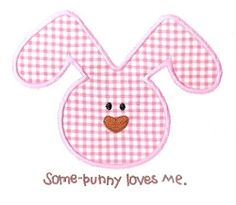 Some-Bunny Loves Me Applique- 3 Sizes! | Baby | Machine Embroidery Designs | SWAKembroidery.com Kimberbell Kids