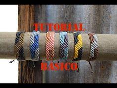 Pulsera macrame diagonal dos colores, fácil y rapido - YouTube