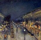 PISARRO Camille - The Boulevard Montmartre at Night Painting