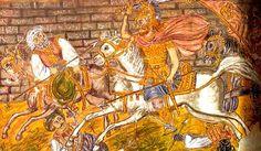 Alexander the Great Mediterranean Art, Alexander The Great, Fresco, Folk, Illustration, Mosaics, Painting, Greek, Fabrics