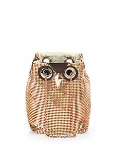 Kate Spade New York Evening Belle Night Owl Chain Mail Shoulder Bag