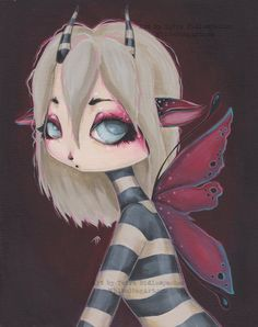Lowbrow gothic pixie fairy fantasy lowbrow fine art by WhiteStag