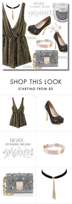 """""""Sparkle Girl"""" by edita-n ❤ liked on Polyvore featuring Wall Pops!, Jimmy Choo, sparkle and top"""