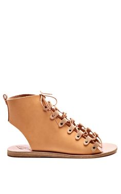 Lace-Up Leather Gladiator Sandals by Ancient Greek Sandals - Moda Operandi