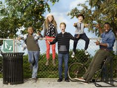 "WALK THE PRANK - Disney Channel's ""Walk the Prank"" stars Brandon Severs as Dusty, Cody Veith as Chance, Jillian Shea Spaeder as Bailey, Bryce Gheisar as Herman and Tobie Windham as Uncle Will. (Disney XD/Craig Sjodin)"