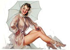 gameraboy:  For All Weather Protection, Simoniz advertisement by Gil Elvgren, 1950s