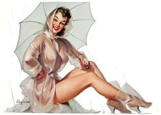 gameraboy:  For All Weather Protection, Simoniz advertisement by Gil Elvgren, 1950s
