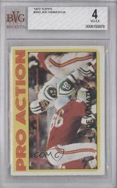 Joe Namath IA BVG GRADED 4 New York Jets (Football Card) 1972 Topps #343 by Topps. $60.00. 1972 Topps #343 - Joe Namath IA BVG GRADED 4