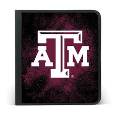 Texas A & M Aggies Zipper Enclosure 3 Ring Binder 250 Sheet Cap Black/Maroon #Markings #TexasAMAggies