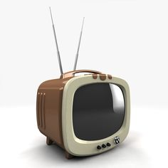 Vintage TV Model available on Turbo Squid, the world's leading provider of digital models for visualization, films, television, and games. Vintage Tv, Vintage Shops, Tvs, Radios, Tv Retro, Portable Tv, Vintage Television, Modelos 3d, Retro Futuristic