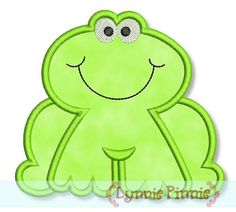Embroidery Designs - Frog Applique 4x4 5x7 6x10 - Welcome to Lynnie Pinnie.com! Instant download and free applique machine embroidery designs in PES, HUS, JEF, DST, EXP, VIP, XXX AND ART formats.