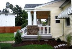 Sloped Porch Roof Construction House Exterior