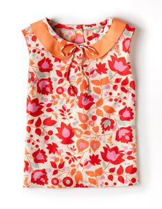 I've spotted this @BodenClothing Vintage Sun Top Pink Trailing Floral