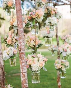 Create your own hanging flowers using recycled bottles...