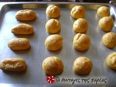 Βάσεις για σου και εκλέρ #sintagespareas Greek Desserts, Greek Recipes, Recipe Images, Bread Rolls, Cooking Time, Truffles, Finger Foods, Sweet Tooth, Sweets