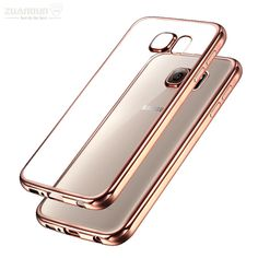 Case For Samsung Galaxy A3 A320 A5 A520 A7 A720 2017 Clear Soft Silicone Cover For Samsung Galaxy S7 S7 Edge Plating TPU Case