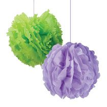 DIY giant tissue paper flowers (made with items found at Dollar Tree) are the perfect pop of color your party needs.