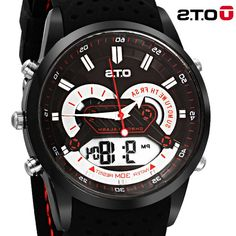 37.00$  Watch now - https://alitems.com/g/1e8d114494b01f4c715516525dc3e8/?i=5&ulp=https%3A%2F%2Fwww.aliexpress.com%2Fitem%2FNew-Top-Brand-OTS-military-watch-Digital-Sport-Watches-LED-50M-Waterproof-Men-Large-Dial-Sports%2F32674792205.html - Top Brand OTS Cool Men Watch Digital Sport Watches LED 10M Waterproof Men clock timing Sports Analog Wristwatches 2016 Fashion