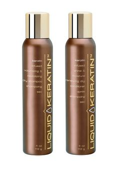 Dry Shampoo and Conditioner Combo Kit by Liquid Keratin on @HauteLook