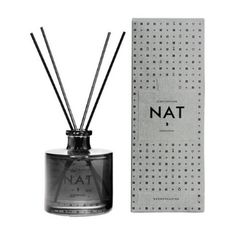 Skandinavisk Nat Scent Diffuser Set - Night: NAT [NAET]. Danish/Norwegian for 'night'.   - Will scent a room for at least 3 months.  - Our diffusers bring subtle and stable fragrance to your home for weeks on end.  - To get the most from your NAT scent diffuser remove the seal, place the sticks into the liquid – the more sticks used the stronger the scent - then rotate the sticks weekly, using a paper towel to hold them.
