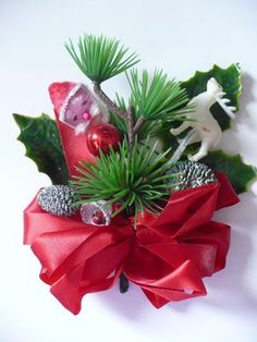 Vintage Christmas Corsage--I remember my mother wearing things like this