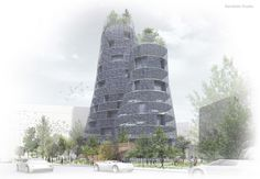 Render, Archmedium International Competition, Barcelona. Bandada Studio