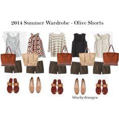 Summer Wardrobe - Olive Shorts