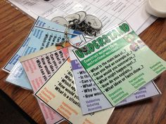 Questioning Strategy for the classroom.  Bloom's Revised Taxonomy