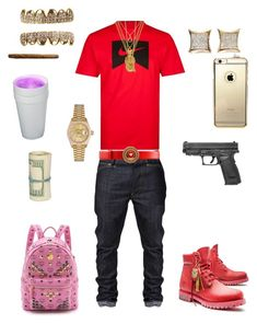 """""""-Studio- ~King Savage"""" by leonar-287 ❤ liked on Polyvore featuring NIKE, Bill Skinner, Timberland, Juicy Couture, Mister, Rolex, MCM, men's fashion and menswear"""