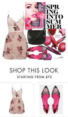 """""""Untitled #577"""" by capm ❤ liked on Polyvore featuring Clinique, Maybelline, Lipsy, Ted Baker and Topshop"""