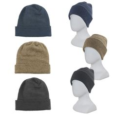 ad2aad3e3e1 Possum Wool Classic BeaniePossum Wool Beanie   Hat - luxurious double layer  with turn back rim