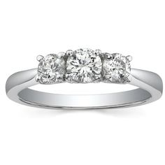 $2,750  -  * EGL CERTIFIED * 1.25 CARATS ROUND CUT THREE STONE DIAMOND RING ON 14K SOLID WHITE GOLD F 26 D http://www.amazon.com/dp/B00MP81VS0/ref=cm_sw_r_pi_dp_Zt9Aub0F080J3