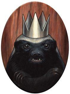 """King Honey Badger"" by Kelly Vivanco"