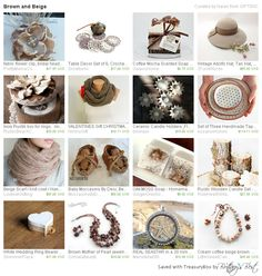 "Beautiful Treasury ""Brown and Beige"" by GIFTSNC."