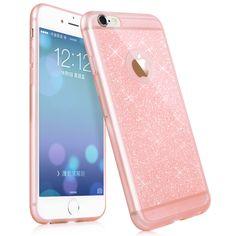 Nouveau cas de téléphone de luxe pour iphone 5 5S 6 6 s case plus accessoires de téléphone cellulaire TPU souple brillant or Bling couverture pour apple