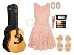 """I'm playing my guitar in a recital this Sunday."" by lulucutshall ❤ liked on Polyvore featuring Tory Burch, Yumi, Too Faced Cosmetics, Carolee and Kendra Scott"